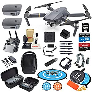 DJI Mavic Pro Drone Quadcopter Fly More Combo with 3 Batteries, 4K Professional Camera Gimbal Bundle Kit with Must Have Accessories 51EoMVS10PL
