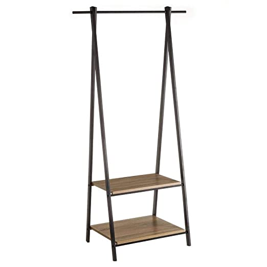 Perchero de Suelo de Metal Negro Moderno para Dormitorio de 150 cm Factory - LOLAhome