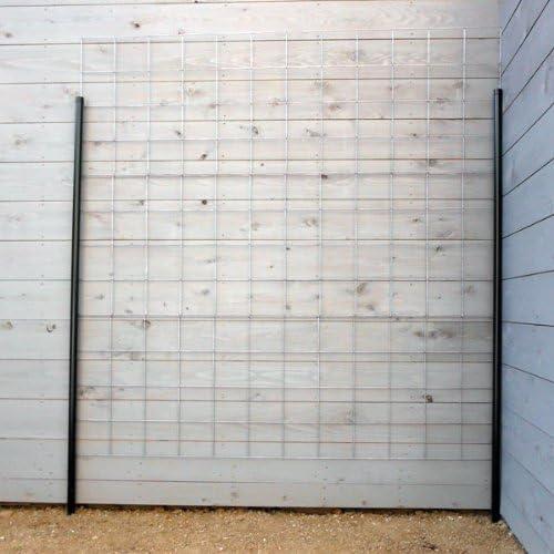 つるバラ用フェンス:カラマリーナVG(シルバーベーシック)[幅180cm×高さ180cm]