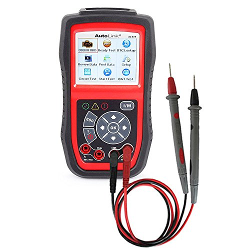 Autel AL539 Autolink Code Reader Diagnostic Tool with Build-In Multimeter for Circuit Test Starting & Charging System Test for DIYer/Small Repair Shop