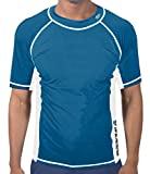 Banana Boat Mens Rash Guard UPF 50+ | Powerful Water & Sun Protection - Loose Fit Design - Ideal Short Sleeve Swim Tee Shirts for Men Who Enjoy Outdoors, Swimming, Fishing, Diving & Snorkeling