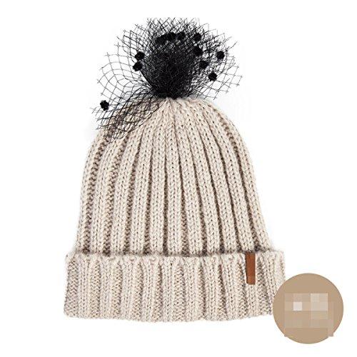 La Gorros Otoño De Punto Moda El Hecho Malla Calientes Nueva Invierno Manera Encrespan White Sombrero Que Tygrr E q70q4w