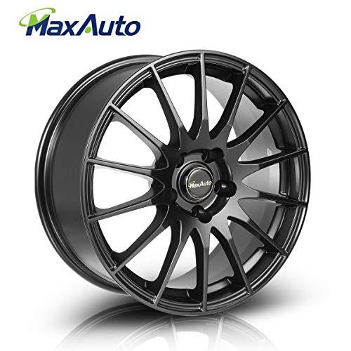 MaxAuto 1 pcs 17x7.5, 5X112, 73.1, 35, Matte Black Rims Alloy Wheels compatible w/ 1996-2017 Audi A4 1998-2005 Volkswagen Passat 1995-2004 2006-2017 Audi A6 2009-17 Volkswagen Tiguan CC 10-14 Audi A5 ()