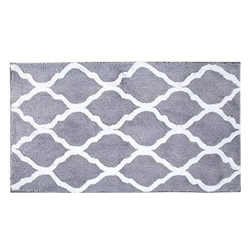 Pauwer Microfiber Large Bath Rug Runner for Bathroom, Non Slip Long Bath Floor Mats, Machine Washable Area Rug Absorbent Bath Shower Mat(47