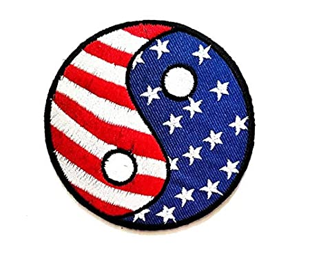 Chino Yin Yang Ying Lucky EE. UU. Bandera símbolo niños ...