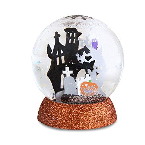 "Lighted Haunted House Halloween Shimmer Globe 4"" (Halloween Snowglobe)"