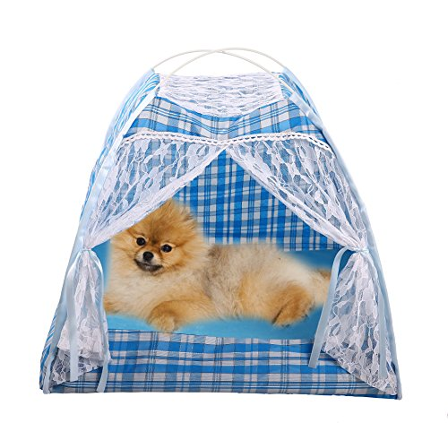 Soft Strawberry Pet Dog Cat Bed House Coffee - 6