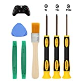 E.Durable T8 T6 T10 Torx Security Screwdriver Set for Xbox One Xbox 360 Controller and PS3 PS4, Safe Prying Tool and Cleaning Brush (Xbox Kits)
