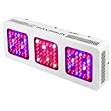 MAXSISUN 480W LED Grow Light 12-band Full Spectrum Veg and Bloom Switches with Secondary Optics Lens for Indoor Plants