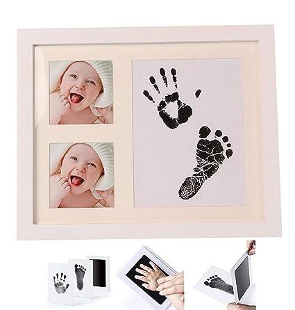 Kit de huellas para bebé y marco de fotos para recién nacido, álbum ...