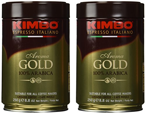 (Kimbo Gold Medal Ground Coffee 2 Cans X 8.8oz/250g )