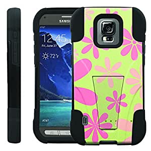 [ManiaGear] Rugged Armor-Stand Design Image Protect Case (Flower Color) for Samsung Galaxy S5 Active SM-G870A
