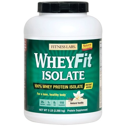 Cheap Fitness Labs WheyFit Isolate – 100% Whey Protein Isolate (5 Pounds, Natural Vanilla)