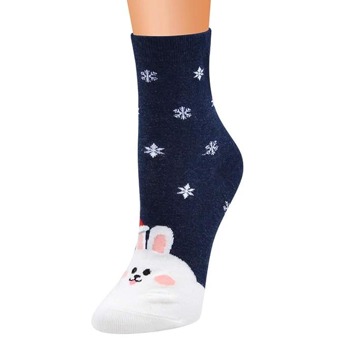 WADUARNUN Calcetines navideños para Mujer 12 Pares/Calcetines de ...