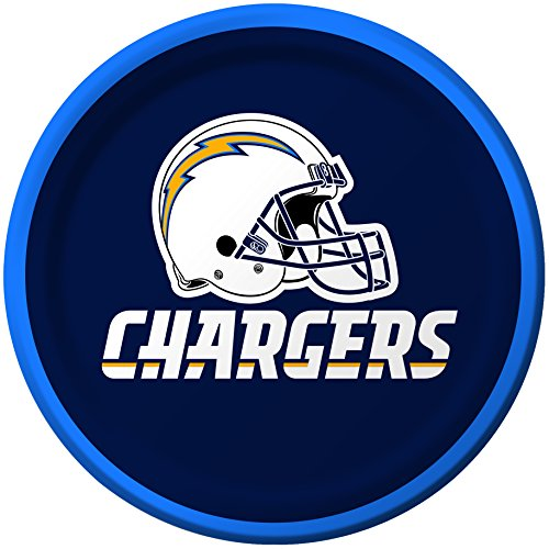 - Creative Converting 8 Count San Diego Chargers Paper Dessert Plates
