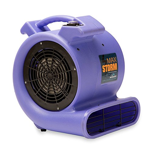 Soleaire SA-MS-PR Max Storm 1/2 HP Durable Lightweight Air Mover Carpet Dryer Blower Floor Fan for Pro Janitorial, - Heaters Electric Compare Water