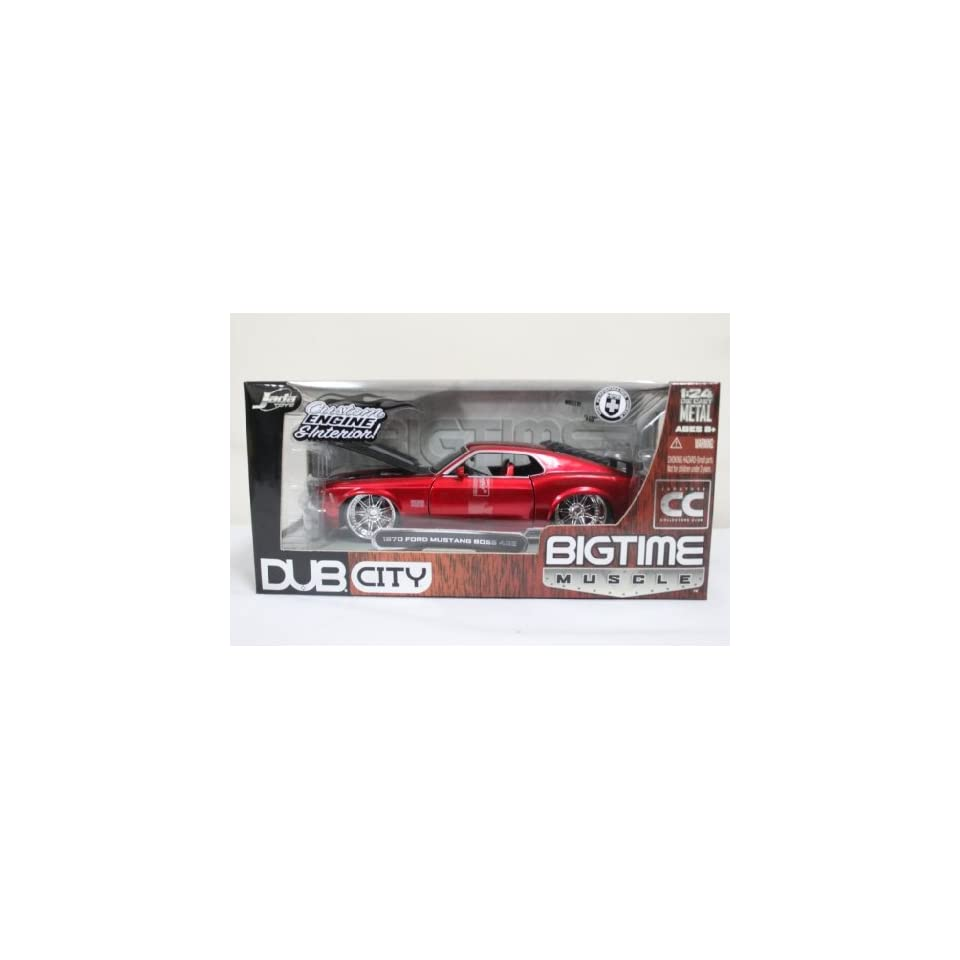 1970 Ford Mustang Boss 429 124 New Diecast Car Red