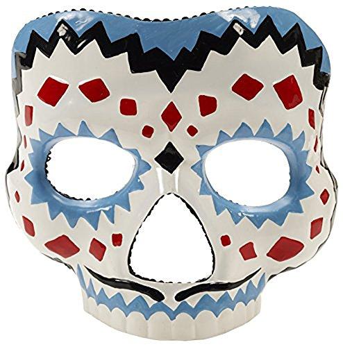 Forum Novelties Men's Day Of The Dead Male Mask, Multi, One (Sugar Skull Costume For Men)
