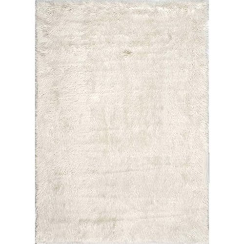 Nuloom 5' x 7' Cloud Shag Rug in White