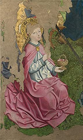 Oil Painting 'Circle Of The Master Of Liesborn-Saint Dorothy,late 15th Century' 30 x 50 inch / 76 x 128 cm , on High Definition HD canvas prints, gifts for Dining Room, Game Room And Kids Room (Les Paul Classic Custom Lite)