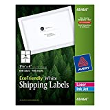 Avery White EcoFriendly Shipping Labels, 3.33 x 4 Inches, Box of 600 (48464)