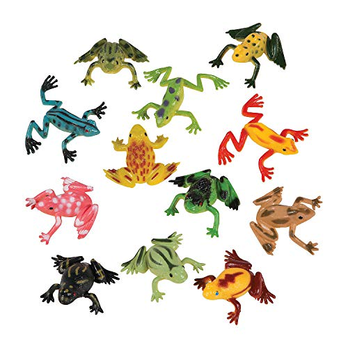 Fun Express - Mini Vinyl Frogs (6dz) - Toys - Character Toys - Action Figures - 72 ()