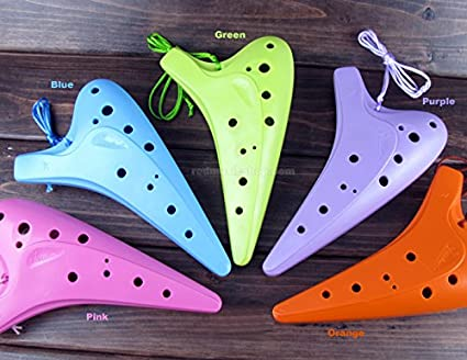 Fengya 12 Hole Alto C Plastic Ocarina, 5 colors available (Purple) Red Music Shop E0650