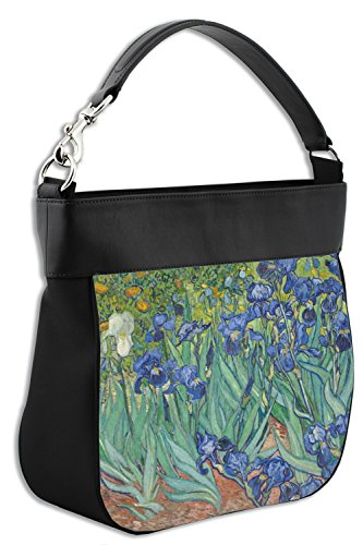 Irises Leather Hobo Gogh Van Purse Trim Genuine Back amp; w Front C1wUqCT