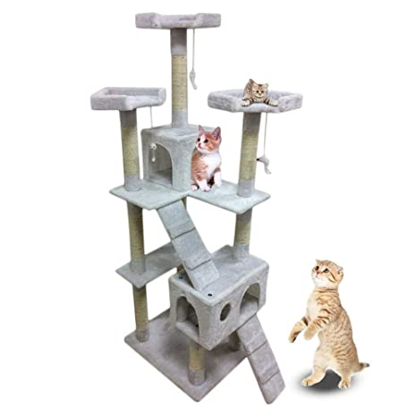 Gulunmun Árbol Rascador para Gatos 180 Cm De Altura Big Cat Tree ...