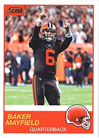 f6dba7ef0dd 2019 Score Football #102 Baker Mayfield Cleveland Browns Official NFL  Trading Card made by Panini