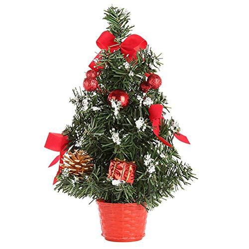 Mini Christmas Tree Decorations Festival Miniature Tree 30cm Merry Christmas Decoration,Red, ()