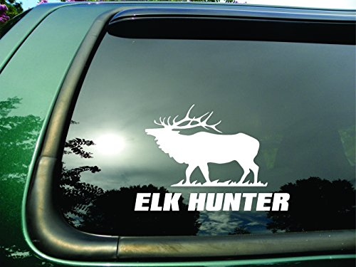 Elk Hunter- Die Cut Vinyl Window Decal/sticker for Car or Truck - Decals Wildlife Truck