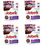 Jobe's Fertilizer Spikes for Flowering Plants 8-9-12 Time Release Fertilizer for Hanging Baskets andPotted Plants, 18 Spikes per Package, 4 Pack (72 Spikes Total)