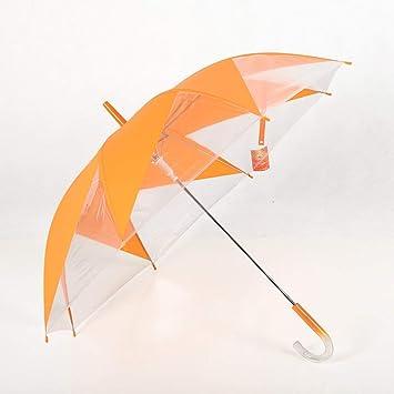 WW Paraguas de molino de viento creativo / Paraguas transparente / / Paraguas de paraguas largo