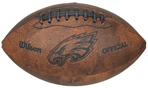 - NFL Philadelphia Eagles Vintage Throwback Football, 9-Inches