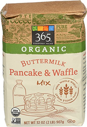365 Everyday Value, Organic Whole Wheat Buttermilk Pancake & Waffle Mix, 2 Pound (Mix Pancake Whole Grain)
