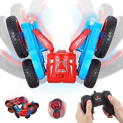 GoStock RC Stunt Car for Kids, 1/24 4WD Remote Control Car for Boys & Girls 2.4Ghz Toy RC Vehicle
