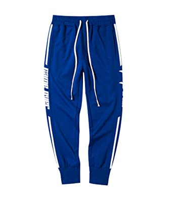 Pantalones de chándal para hombre Slim Fit rodilla Jogging Gym ...