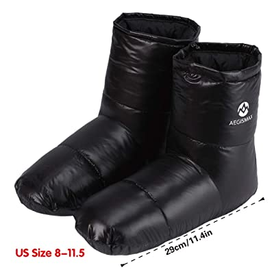 WIND HARD Winter Down Booties Socks Slippers Warm Soft Cozy for Outdoor Camping Sleeping Bag Indoor Down Filled Slipper Boots Ultralight 3 Size for Men Women | Snow Boots