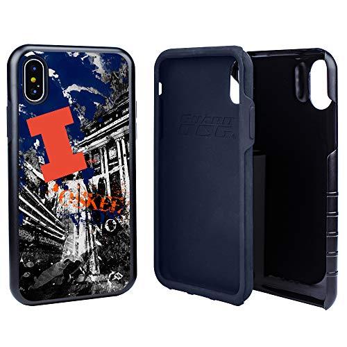 Glass Illini Fighting Illinois (Illinois Fighting Illini Paulson Designs Spirit Hybrid Case for iPhone X/Xs with Guard Glass Screen Protector)