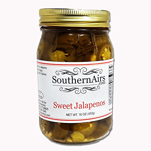 (SouthernAirs Sweet & Hot Jalapeno Pickles/Bloody Mary favorite / 16 oz. )