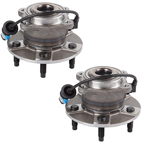 Scitoo Both (2) 512229 New Rear Wheel Hub and Bearing fit 2005-2006 Chevy Saturn 5 Lugs W/ABS