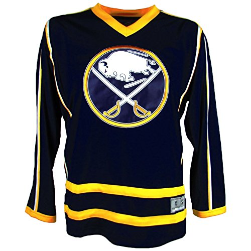 NHL Buffalo Sabres Men's Embroidered Practice Away Hockey Jersey, Blue