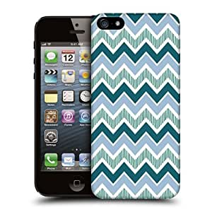 Case Fun Blue Chevrons by Finch Five Snap-on Hard Back Case Cover for Apple iPhone 5 / 5S