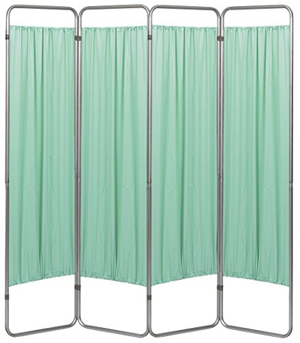 (Omnimed 153094-15 Economy Privacy Screen with Vinyl Panels, Green, 4 Section)