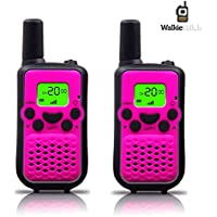 Walkie Talkies, Wireless Interphone 22 Channel FRS/GMRS 2 Way Radio 2 miles (up to 3 Miles) UHF Handheld Walkie Talkies for Kids,Business Outdoor Use (purple)