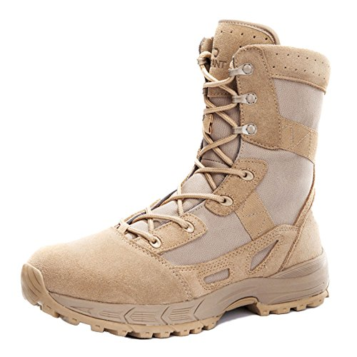 ASJUNQ Scarponi da Trekking Mens Impermeabili Leggero High Rise Sneakers da Arrampicata Leggera Stivali Militari Desert Boots Yellow