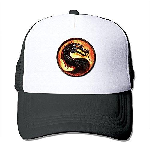 SAXON13 Unisex Baseball-caps Mesh Back Mortal Kombat Logo Hat Cpas Black