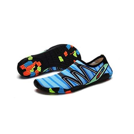 Oyamihin Zapatillas de esnórquel de Moda al Aire Libre Calcetines de Agua Transpirable Aqua Zapatos de