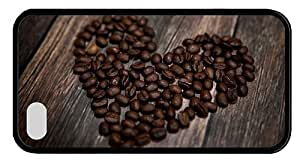 Hipster buy iPhone 6 plus 5.5 case heart coffee beans TPU Black for Apple iPhone 6 plus 5.5